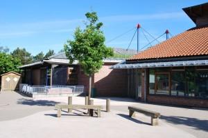 Schulhof Sporthalle